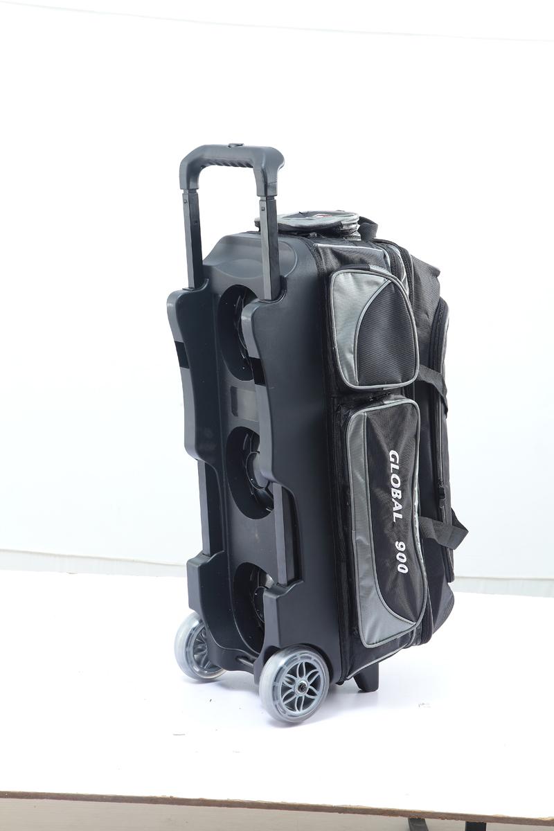 BEL保龄球用品 GLOBAL900 拉杆透明滚轮 保龄球包 三球袋