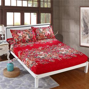 天天特价床笠单件防滑1.8m床1.5m床罩加厚磨毛床套床单床垫保护套