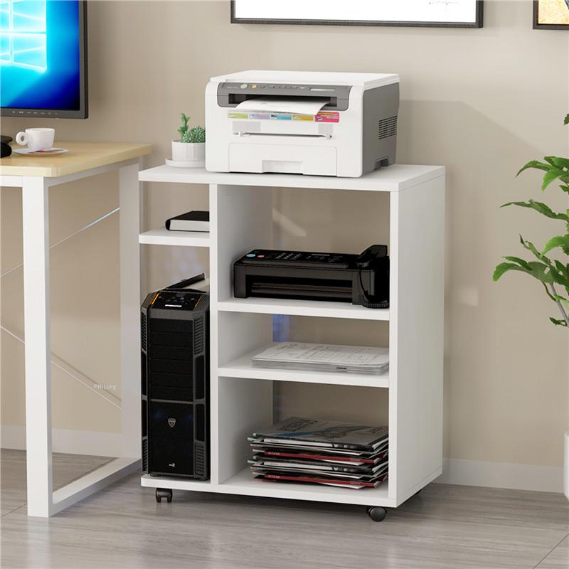 新品打印机架子办公室桌面置物架文件收纳架落地可移动电脑主机柜