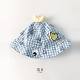 Baby hat new spring and autumn 6-12 months baby basin cap visor cute sun hat 1-2 years old fisherman hat