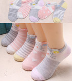 5 children mule 2 cotton baby girl 4 boys mesh 6 cotton socks thin spring and summer 8-12 years old girl boat socks