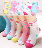 In the spring and autumn, the cotton girls and girls cotton socks thin 3-5-7-8-9-9-10-year-old girl sock cotton