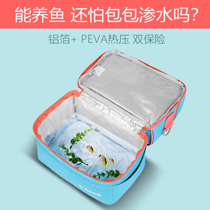 V-Coool双层背奶包便携母乳储奶包蓝冰保温冰包便当奶瓶妈妈上班