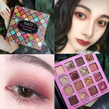 Net red recommended Dubai 16 color GLAZZI eye shadow disk weary makeup pearl light matte color student female beginners