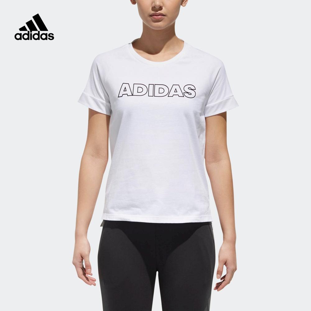 阿迪达斯官网 运动型格女装圆领套头短袖T恤DT8327DT8330DT8331