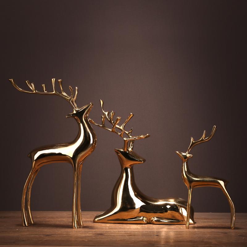 纯铜鹿摆件 款式展示