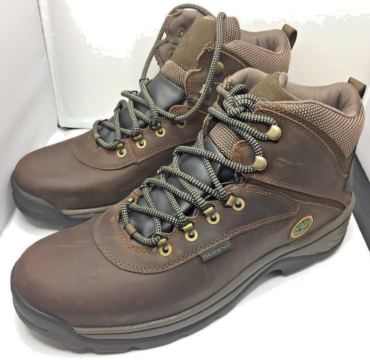 代购Timberland添柏岚男款白色Ledge Mid防水靴子-棕色13 M US