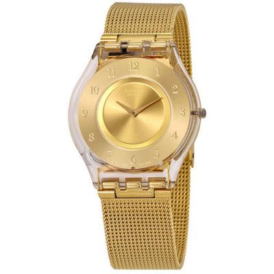 斯沃琪手表金色