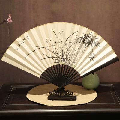 盛风苏扇新品中国风纯手绘扇子古风折扇红木手工艺古典男士折叠扇