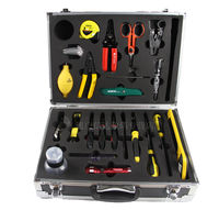 Cable construction toolbox, fiber optic construction toolbox, hro-24 25-piece set