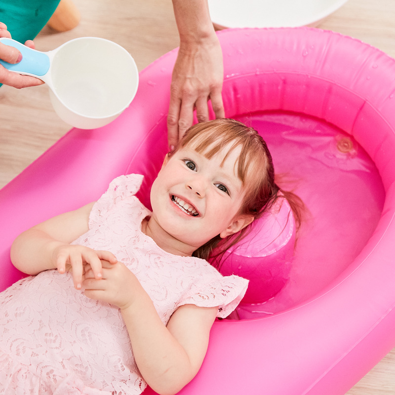适而美大号洗头椅洗发神器可折叠宝宝洗头床洗发躺椅儿童洗头躺椅