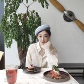 设计师杂志款 帽子画家帽女小香风立体版型高品质花呢白色贝雷帽女