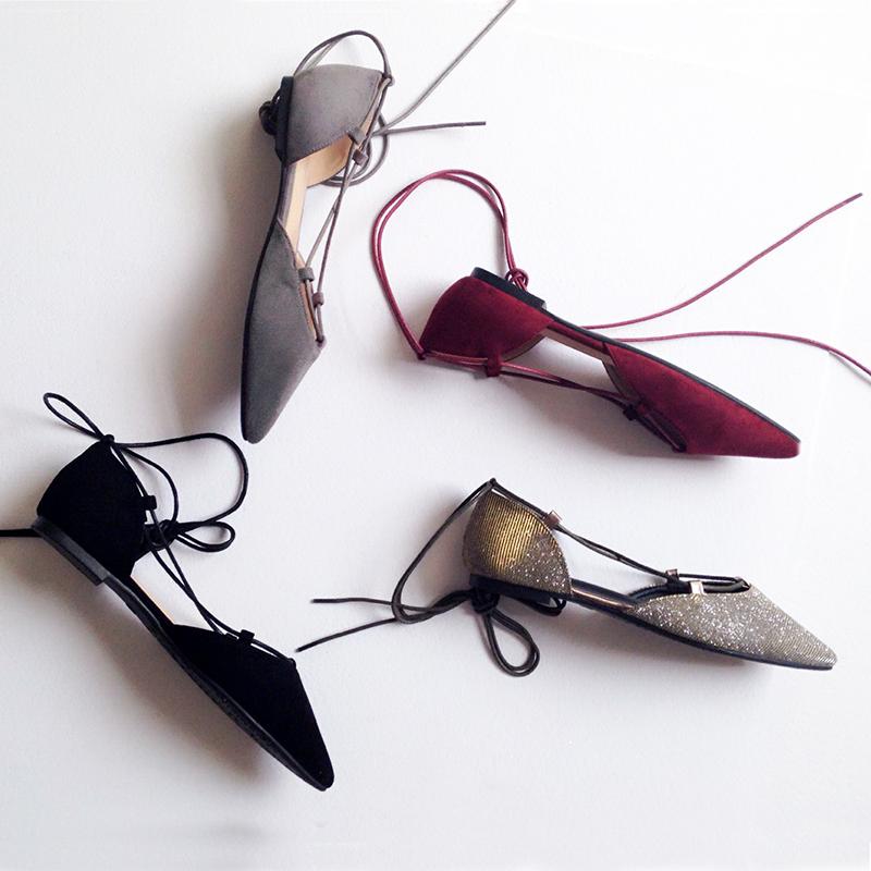 大码系带女单鞋