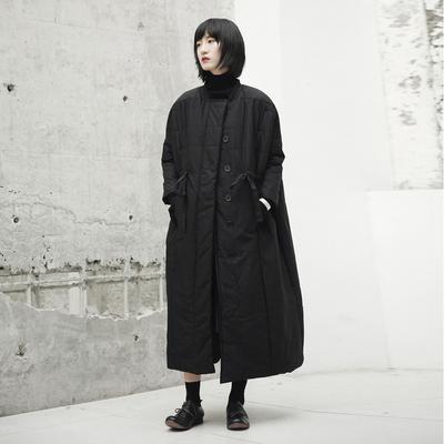SIMPLE BLACK 秋冬新款暗黑风宽松中长款女士棉衣外套棉服