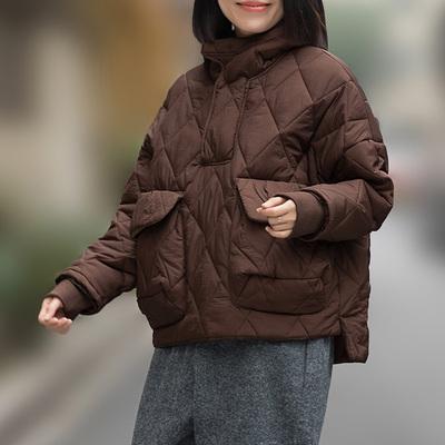 2018冬季新款韩版宽松套头面包服短款休闲羽绒棉服小棉袄连帽女装