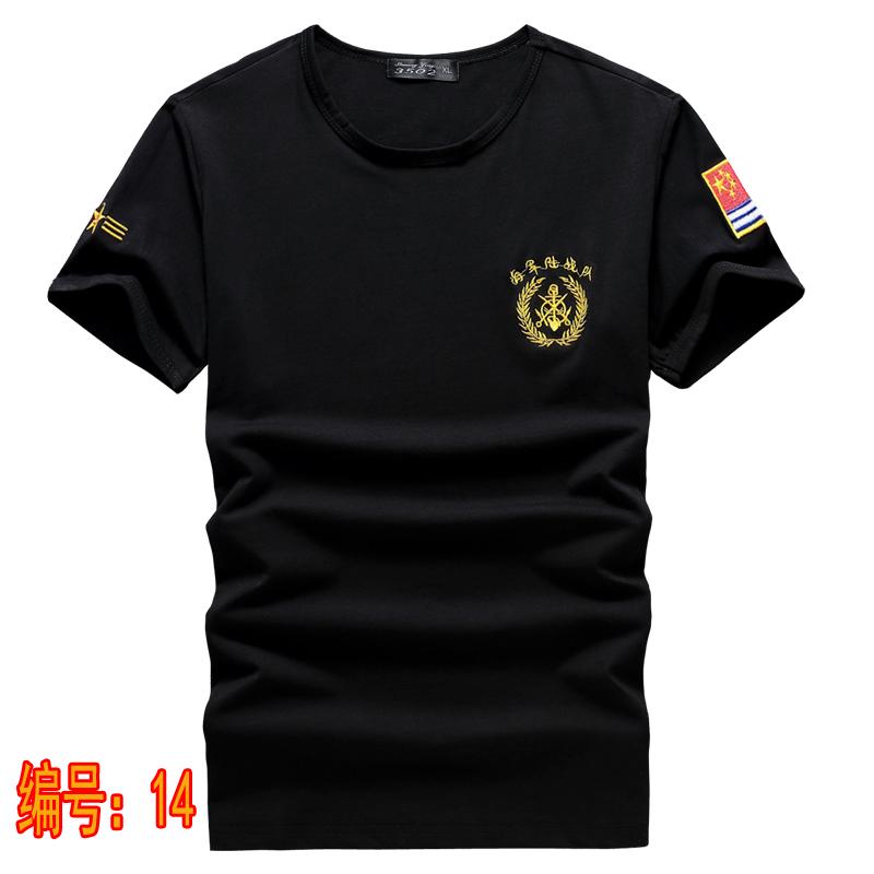 男士军装长袖t恤