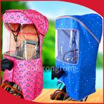 加大加长自行车后置座椅雨棚电动车儿童宝宝孩子坐椅防雨篷遮阳棚