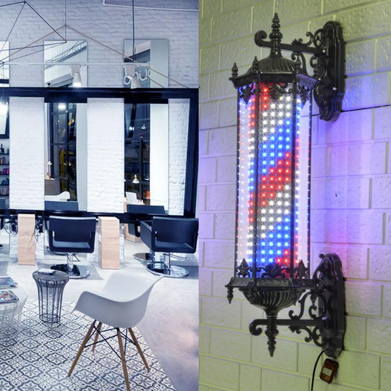 新款led美发转灯发廊标志灯理发店转灯美发店转灯挂墙罗马灯箱