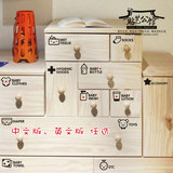 Child Baby Logo Plastic Wooden Drawer Cabinet Toys Clothing Classification English Decorative Wall Sticker