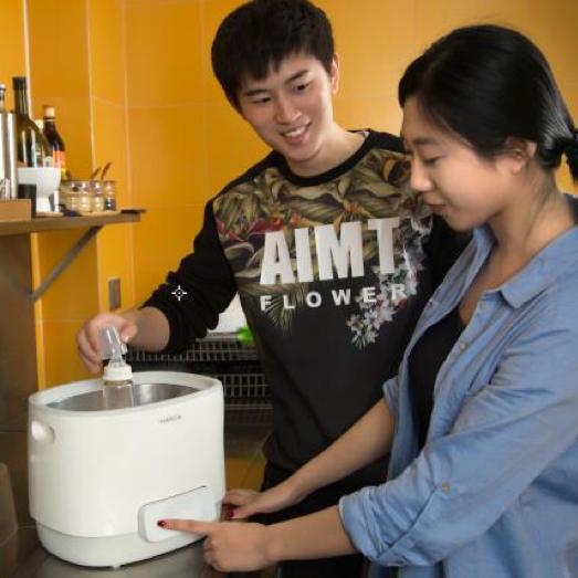 哈密瓜奶瓶自动清洗机超声波洗奶瓶机全自动婴儿消毒温奶保温神器