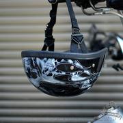 现货哈雷匪帮 重机摩托车头盔 半盔火焰骷髅 霸气瓢盔小盔体夏盔
