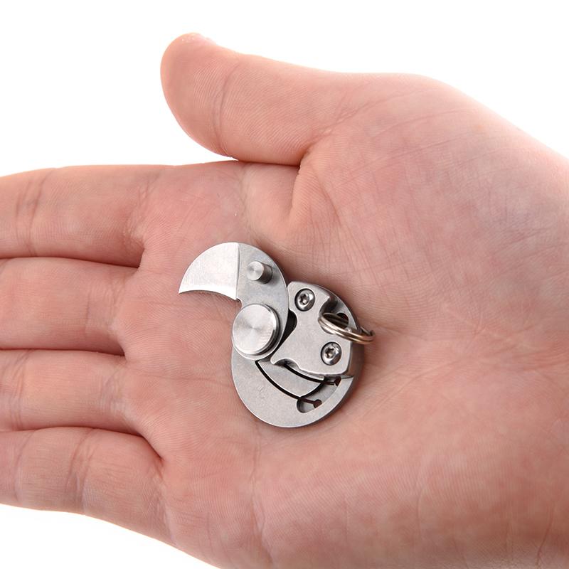 创意硬币小刀礼品迷你随身EDC工具刀钥匙扣挂件配饰多功能折叠刀