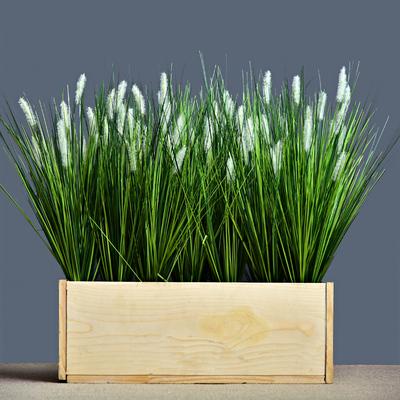 仿真狗尾巴草芦苇假花塑料花草落地植物装饰绿植盆栽橱窗花槽婚庆
