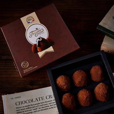 法国进口食品 德菲丝松露型黑巧克力 浓情古典1000g(代可可脂)