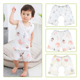 Baby children summer bamboo fiber shorts home newborn baby toddler cotton open pants girl open thin