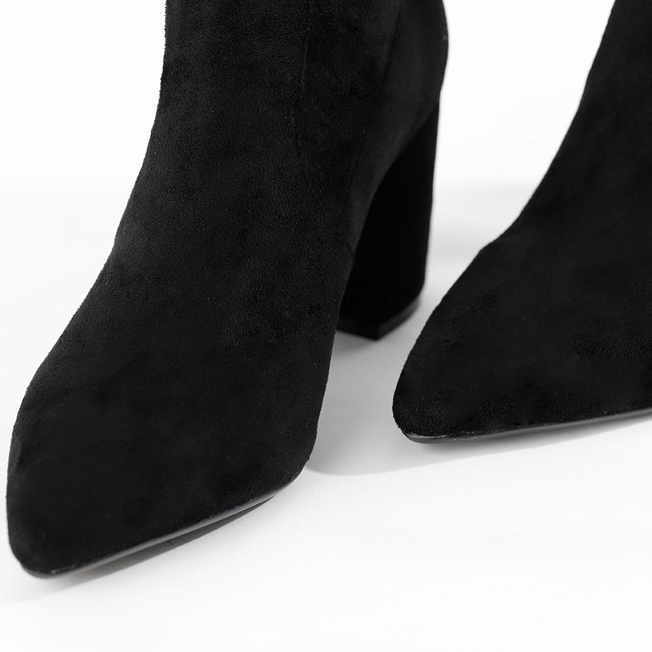 DPLAY德帕拉秋冬新欧美黑色长筒高靴性感过膝弹力粗跟女鞋