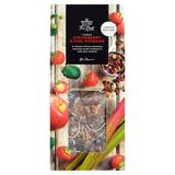 British imports morrisons apple strawberry hibiscus rhubarb cornflower 15 bags of tea small hidden same paragraph