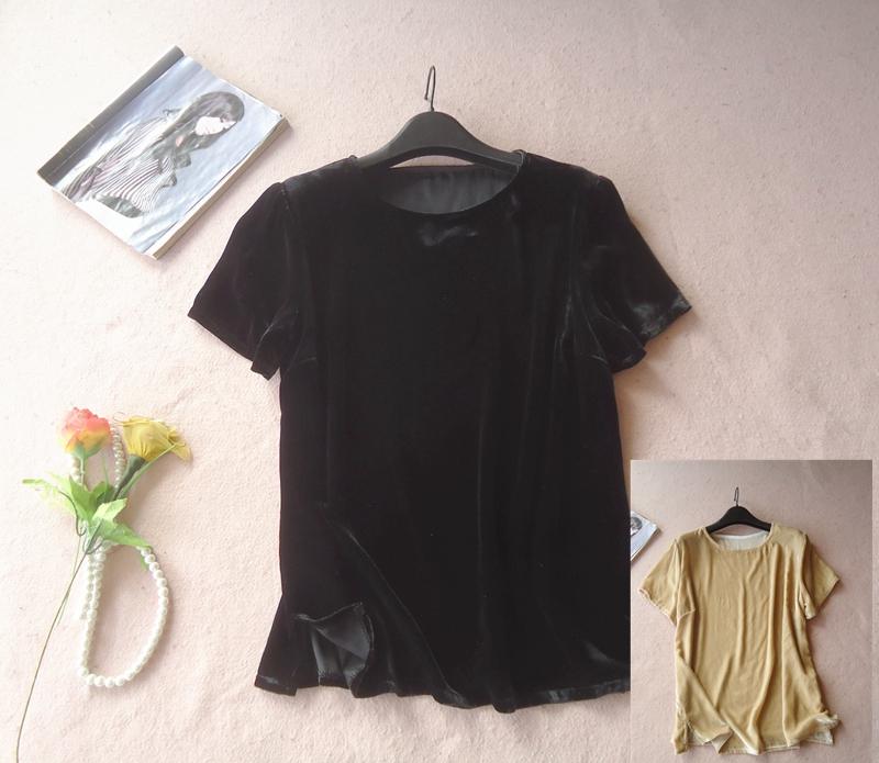 韩国丝绒短袖