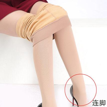肉色打底裤加绒冬季连脚女士一体裤加厚加大显瘦袜外穿保暖裤高腰