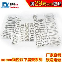弹簧2件8.5折扁簧0.8毫米梯形不绣钢长弹簧矩形弹簧长方形