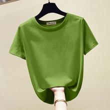 牛油果绿t恤女短袖2019夏季yabovip4.cpm韩版修身超火cec半袖体恤短款上衣