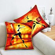 4月美岸十字绣抱枕一对新款客厅沙发靠垫印花3D十字绣抱枕套枕头