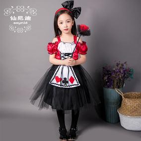 六一儿童节服装女童爱丽丝梦游仙境角色扮演cosplay女仆装演出服