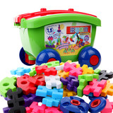 Japanese royal children's soft plastic buckets children's building blocks large particles put together intelligent baby boy toys