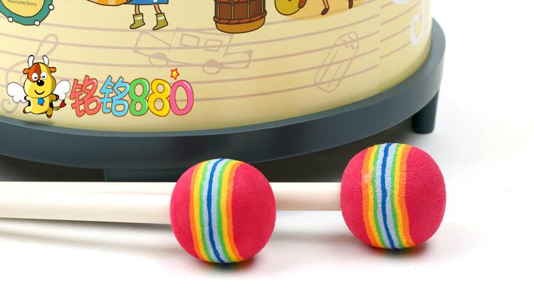 包邮  奥尔夫乐器 早教可爱宝宝敲鼓 音乐玩具 儿童礼物