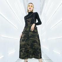 Jupe de camouflage strap Jupe Femelle 2019 Printemps Nouvelle Mode Hip-hop jupe décontractée robe longue de grande taille