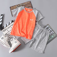 Children's boys and girls wear quick-drying clothes quick-drying T-shirt short-sleeved shorts two-piece suit summer new child treasure