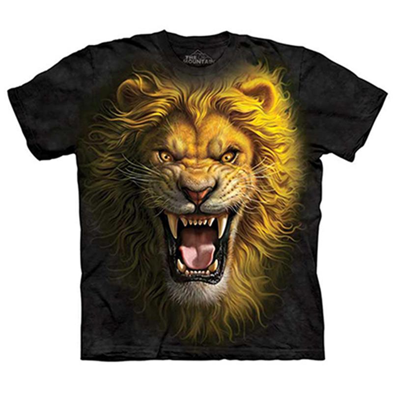 美国themountain t恤短袖纯棉打底动物印花亚洲狮子王