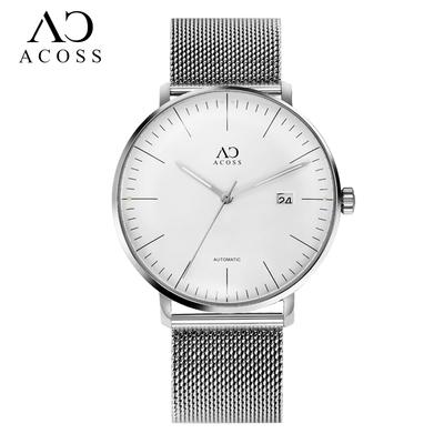 网红9纬弧男表新概念AC手表男个性潮流全自动机械表钢带男士手表