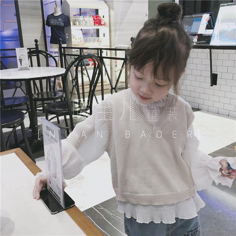 韩国针织背心女童