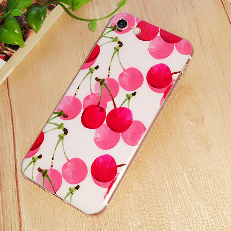 樱桃苹果iphone7手机壳iphone7plus硅胶套7S全包水果透明软女款韩