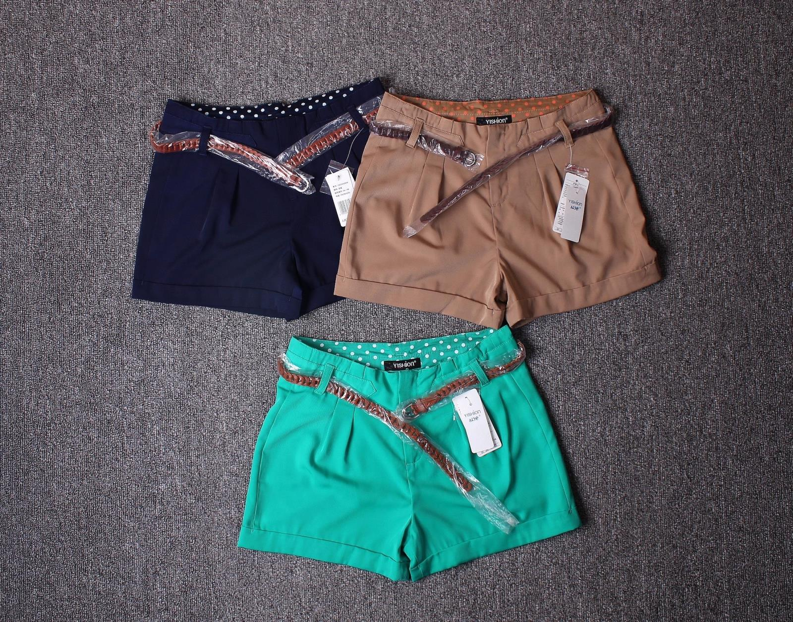 国内某服装 女生款高腰短裤热裤  配腰带   吊牌价