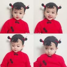 朱莉家 男女宝宝哪吒发带0-6岁婴幼儿发饰满月周岁百天拍照