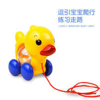 Pulling rope, cute duck, teasing baby toddler toy, dragging/pulling duckling, rattle function, children's toy