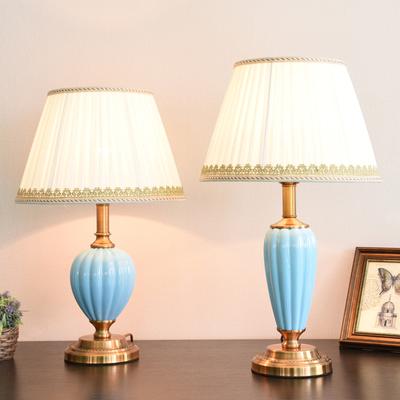 美式陶瓷台灯卧室床头灯客厅书房北欧简约现代创意浪漫新中式灯具哪个好