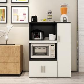 餐边柜现代简约碗柜茶水柜橱柜厨房柜子储物柜带门收纳柜微波炉柜